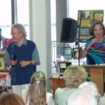 Publisher Jimmy Patterson and Author Joanna Biggar share the stage